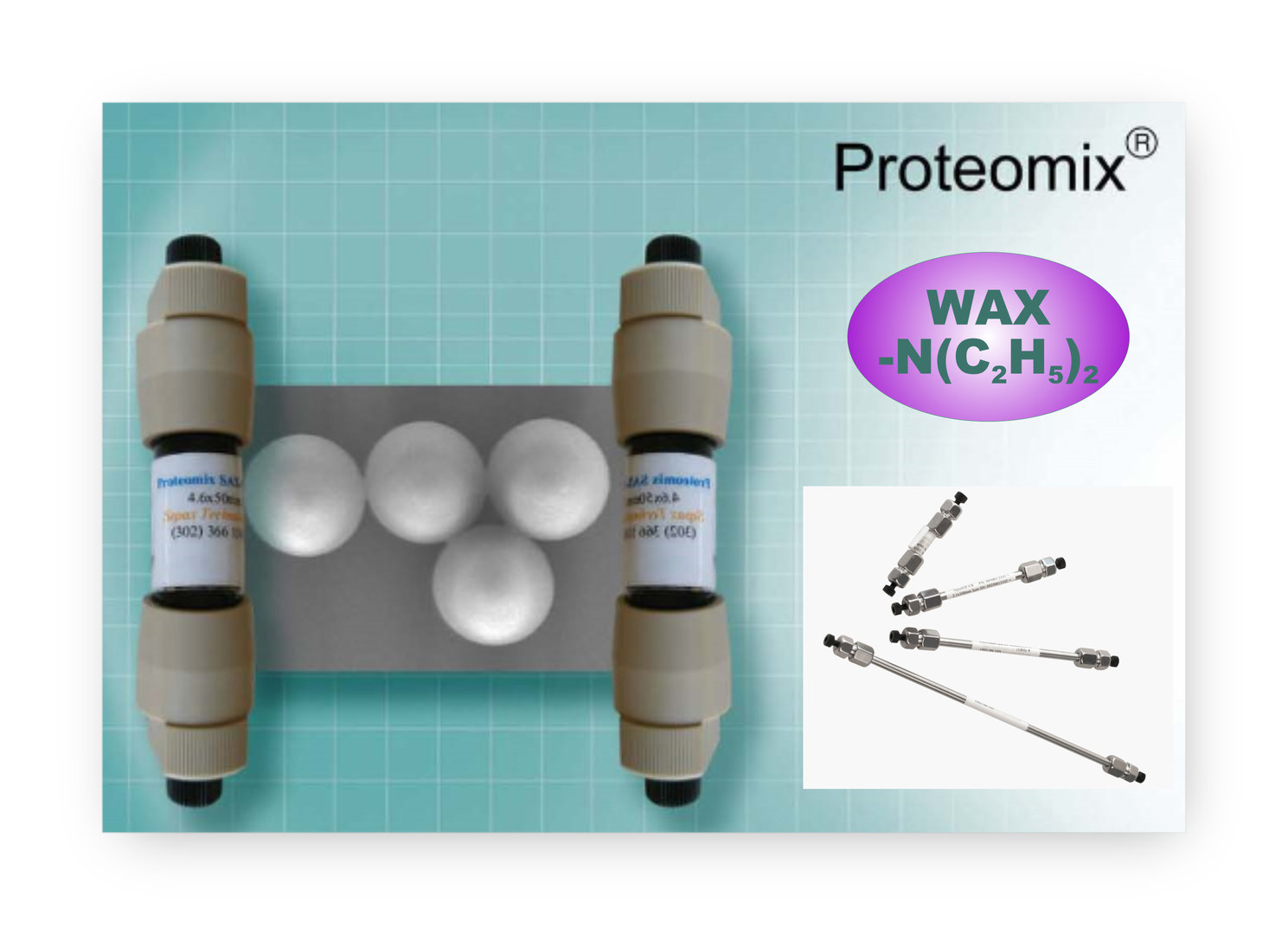 Sepax Proteomix WAX, NP1.7, Guard cartridge